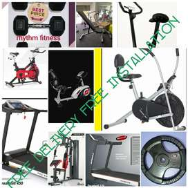 Dumbbells air bike treadmill