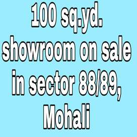 100 sq.yd. Showroom on sale in Sector 88/89 in best price