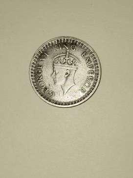 Half Rupee Coin 1943
