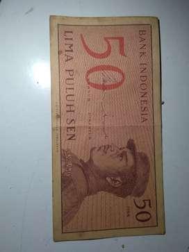 Uang kuno 50 sen tahun 1964
