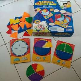 Mainan edukasi plastic fractions learning puzzle game