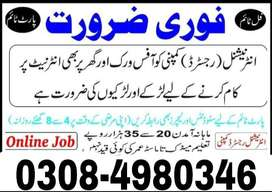 online earning (Male and franale) students and teachers jobs