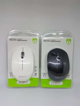 Mouse Wireless Robot M210 Putih Hitam untuk Laptop / PC Garansi 1th