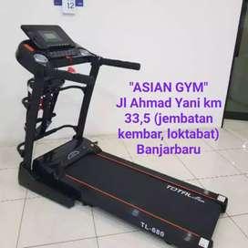 Ready Treadmill mewah hemat listrik 2 hp auto incline auto lubrican