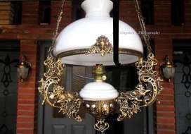 Lampu hias gantung antik repro katrol betawi