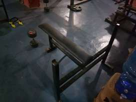 Flat chest press bench