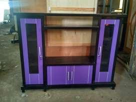 Bufet tv avanza 4 pintu warna ungu sedang murah teriplek tebal