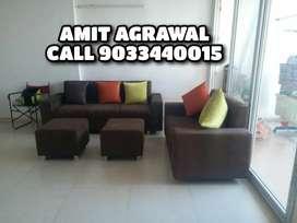 Premium looking 3+2 seat sofa set with 2 stool