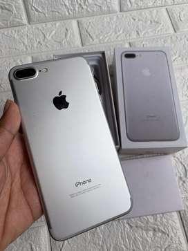 iphone 7 plus 128gb Silver Fullset ex inter all provider bisa TT