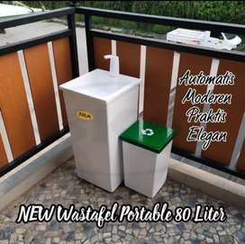 Wastafel portable sensor otomatis praktis bahan fiber glass new model