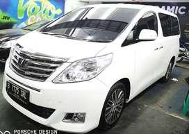 Dijual Toyota alphard 2013 tipe G facelift atpm putih (nik 2012)