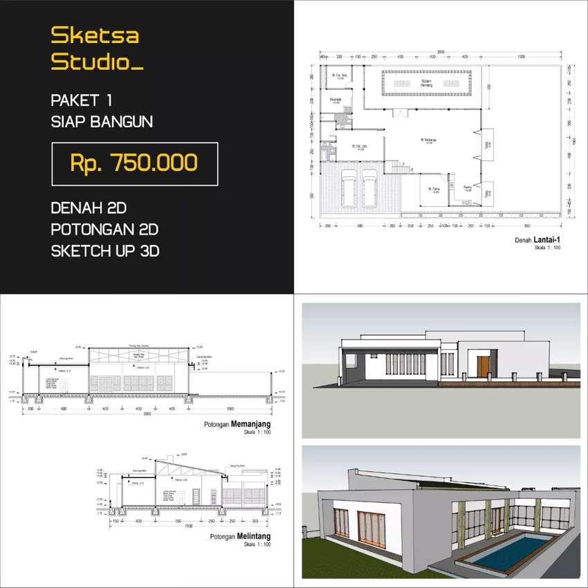 Desain Arsitek, Gambar Kerja, Gambar IMB, Rumah, Ruko, Kost, Cafe dll