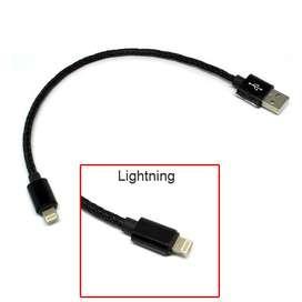 Fast Kabel Charger Cas Powerbank Lightning iPhone Braided pendek 24cm