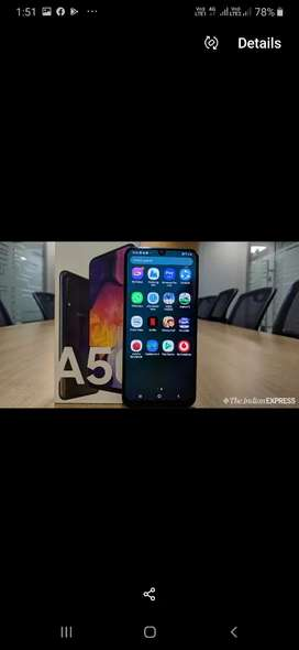 Samsung galaxy A50 black colour in mint condition