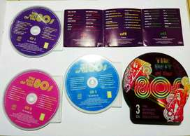 """Original 3 CDs with box """"The Best of the 80's"""" Import"""