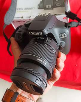 FOR SALE Canon EOS 4000D Kit 18-55mm III - Second Kayak Baru