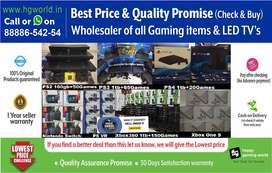Now or Never Offer on Gaming Consoles(PS4,PS3/2,XBOX,Switch,Vr)&LED TV