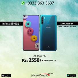 Infinix S5 6GB Available On Installment With 0% Advance.