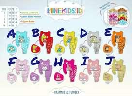 TERBARU Set pajamas baju tidur anak piyama minekids gratis masker