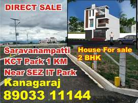 2 BHK House For sale saravanampatti Corporation Limit Near KCT Park