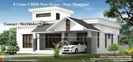 New 3 BHK House Near Thengana-Changanacherry