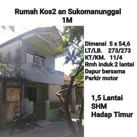 BU Rumah Kos-kosan Sukomanunggal Surabaya