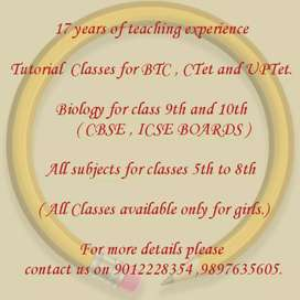 Classes for girls only