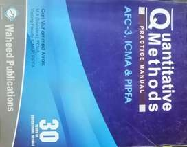 Quantitative Methods practice manual by WAHEED PUBLICATIONS