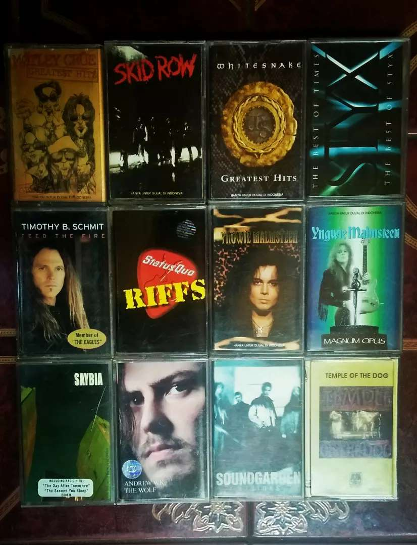 kaset Heavy Metal dan Hard Rock. Ori rilisan lokal