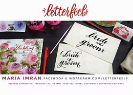 Wedding Calligraphy on Envelopes | English calligraphy for shadi card