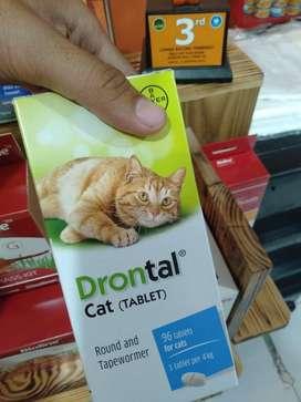 Drontal Cat tablet Obat cacing untuk kucing bentuk tablet