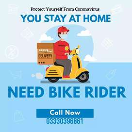 Need bike rider for Rajput food Supplier only for 4 to 5 hours