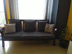 Teak Wood 3+2 Sofa set in very good condition
