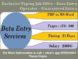 Reliable !! Data Entry Operator Earn Awesome Income By Typing Work