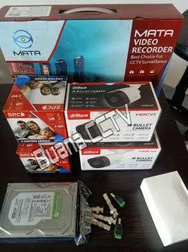 PAKEET KOMPLIT CCTV 1080P TERMURAH DAN TERLENGKAP