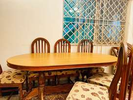Wooden Dining Table set for sale