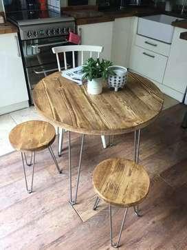 Set meja kursi bulat- meja makan- cafe angkringan- meja kursi cafe