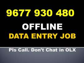 Earn Above 20000 In UR Free Time By OFFLINE DATA TYPING Job. Join Now!