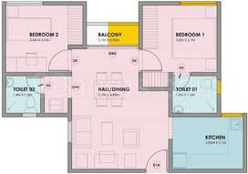 2 BHK residential apartment for sale at vbhc palmhaven
