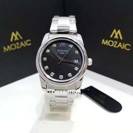 Jam Tangan Mozaic MZ 10016 Silver