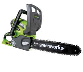 Greeworks Battery Operated Chain Saw alongwith Battery and Charger