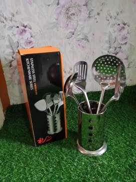 Wadah + spatula stenliss murah meriah