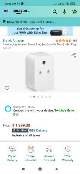 Amazon alexa smart switch