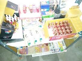 Cosmetics product sale shop closed rs 25000 all item sale