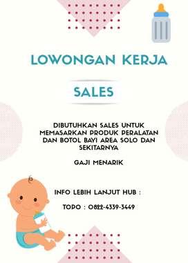Lowongan sales penjualan perlengkapan bayi