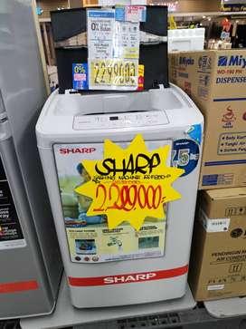 Mesin cuci Sharp 1 tabung bisa cicilan tanpa kartu kredit