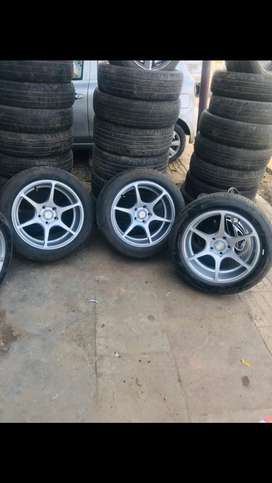 17 inch Tyres and Alloys