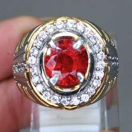 Cincin Batu Garnet Ceylon Srilangka kode B563