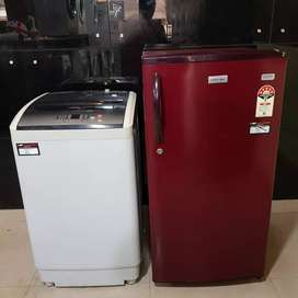 Onida top load washing machine and Electrolux single door refrigerator