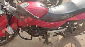 Red colour pulsar 150